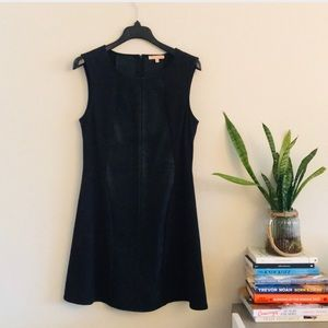 Skies are Blue Faux Leather & Suede Dress
